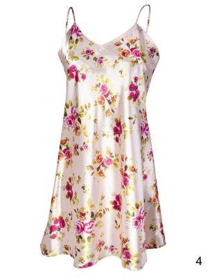 На картинке изображено - Женская ночная сорочка с цветочным узором Dkaren DK-HK | фото 5