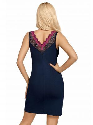 На картинці зображено - Жіноча нічна сорочка з рожевим мереживом Donna Nina | фото 2