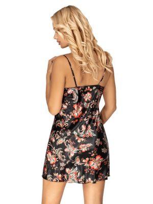На картинці зображено - Жіноча коротка атласна нічна сорочка Donna Paris | фото 6