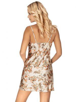 На картинці зображено - Жіноча коротка атласна нічна сорочка Donna Paris | фото 5