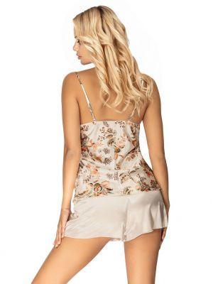 На картинке изображено - Женская атласная пижама на тонких бретелях Donna Paris 1/2 | фото 6