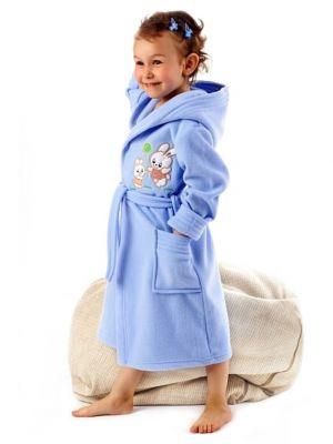 На картинке изображено - Детский теплый халат с капюшоном Dorota FR-043 116-128 Roz | фото 6