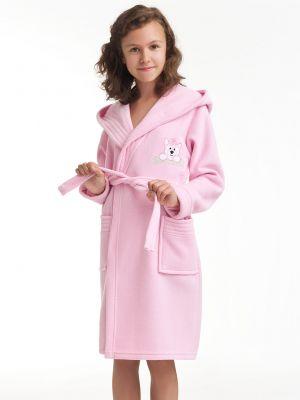 На картинке изображено - Детский теплый халат с капюшоном Dorota FR-043 116-128 Roz | фото 7