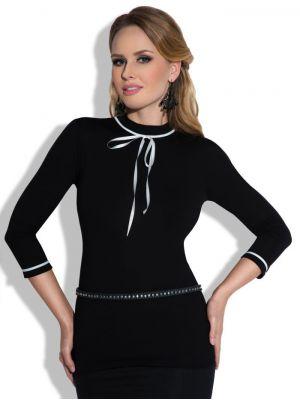 На картинке изображено - Оригинальная женская блуза с контрастными лентами Eldar Alida sale | фото 2