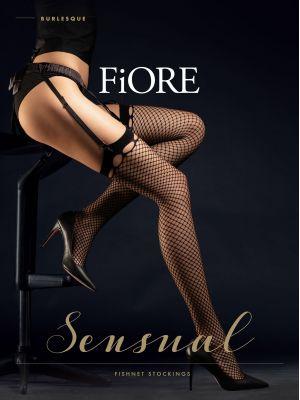 На картинке изображено - Женские чулки кабарет под пояс Fiore Burlesque 30 den | фото 2