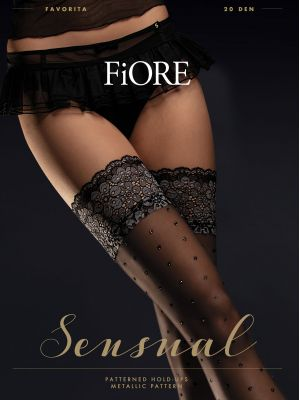 На картинке изображено - Женские романтичные чулки Fiore Favorita 20 den | фото 2