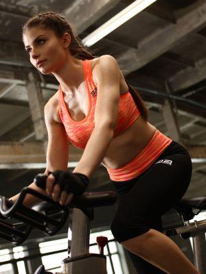 На картинці зображено - Жіночі спортивні легінси з кольоровою широкою резинкою Gatta Active Sport | фото 2