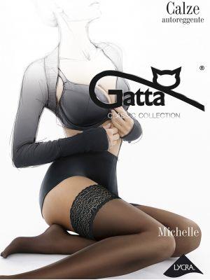 На картинці зображено - Жіночі тонкі матові панчохи Gatta Michelle 01 20den | фото 5