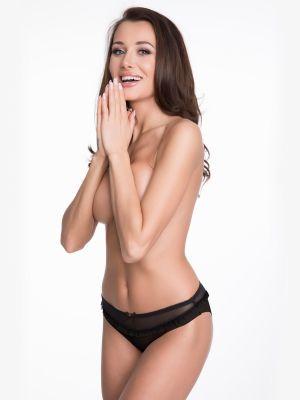 На картинке изображено - Женские трусики бикини с оборкой из тюля Julimex Madam | фото 8