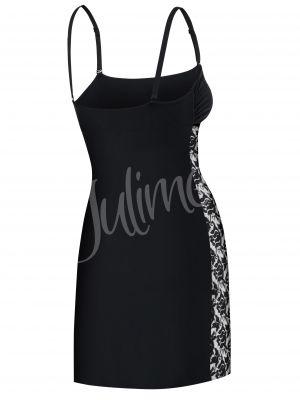 На картинке изображено - Женская короткая сорочка/комбинация с гипюром Julimex Honey | фото 3