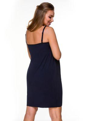 На картинці зображено - Жіноча нічна сорочка на тонких бретелях для вагітних Lupoline 3129 MK | фото 2