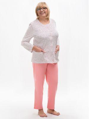 На картинке изображено - Женская пижама с рубашкой на пуговицах Martel 202 Maria big | фото 4