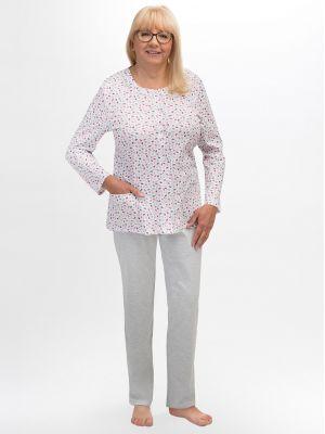 На картинке изображено - Женская пижама с рубашкой на пуговицах Martel 202 Maria big | фото 3