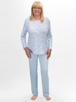 На картинке изображено - Женская пижама с рубашкой на пуговицах Martel 202 Maria big | фото 2