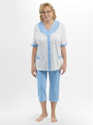 На картинке изображено - Женская летняя пижама с коротким рукавом Martel 211 Honorata big | фото 2