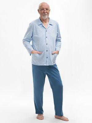 На картинке изображено - Мужская пижама с рубашкой на пуговицах Martel 403 Antoni big | фото 3