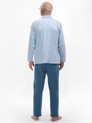 На картинке изображено - Мужская пижама с рубашкой на пуговицах Martel 403 Antoni big | фото 6