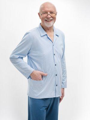 На картинке изображено - Мужская пижама с рубашкой на пуговицах Martel 403 Antoni big | фото 2