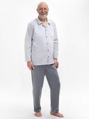 На картинке изображено - Мужская пижама с рубашкой на пуговицах Martel 403 Antoni big | фото 5