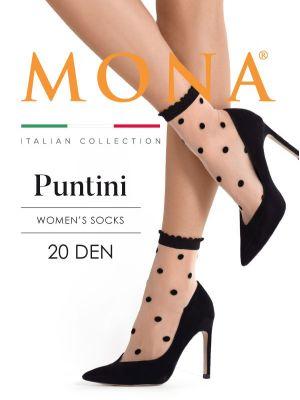 На картинке изображено - Женские фантазийные носочки с крупными точками Mona Puntini | фото 3