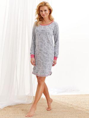 На картинке изображено - Женская ночная сорочка с манжетами Taro 2116 Nora S-XL | фото 2