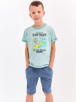 На картинке изображено - Домашний комплект с карманами для мальчика Taro 2216 Alan | фото 2