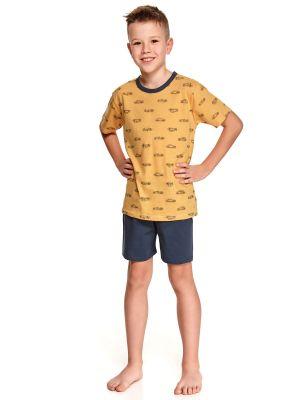 На картинке изображено - Хлопковый домашний комплект для мальчика Taro 391 Max 122-140 | фото 2